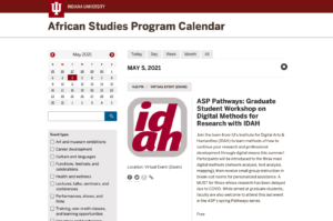 ASP Pathways: Graduate Student Workshop on Digital Methods for Research with IDAH